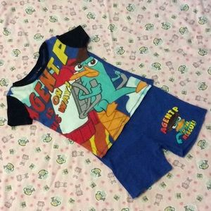 Agent P Disney pajamas set size 6